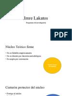Imre Lakatos Sin Diseño
