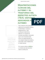 Síntomas Asociacdos Al Autismo