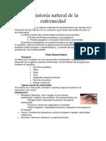 La Historia Natural de La Enfermedad
