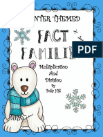 Multiplication and Division Fact Families Winter the Me