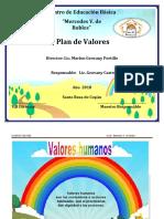 Plan de Valores 5to Grado