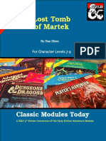 Classic Modules Today - I5 Lost Tomb of Martek