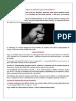 Los 13 Tipos de Violencia y Sus Características