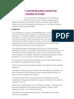 Analisis Del Sociograma