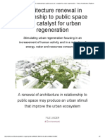 Architecture Renewal in Relationship to Public Space as a Catalyst for Urban Regeneration __ Future Architecture Platform