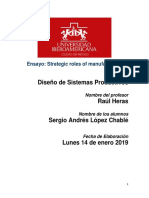 Ensayo Final Sergio Lopez - Strategic Roles of Manufacturing