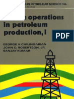 Surface Operations in Petroleum Production I
