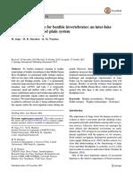 Sources Contribution for Benthic Invertebrates Parana Floodplain
