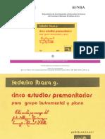 Federico Ibarra, Obra Para Piano y Conjunto Instrumental