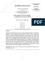 3 P's-3 A's Film-Induced Tourism Model - A Qualitative Research Study