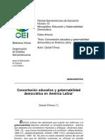 Concertación Educativa y Gobernabilidad Democrática en América Latina- Filmus