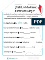 Changing the Future to the Present Present Tense Verbs Ending in y
