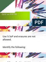 Quiz on Poetry