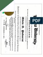 Certificate Iexcel