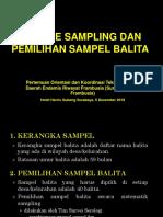 Teknik Pengambilan Sampel Balita Survei Serologi Tahun 2018