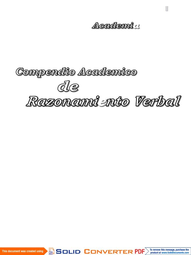 283536209-Razonamiento-Verbal-Listo.pdf | Diccionario | Palabra