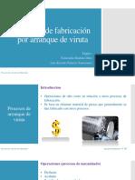 Procesos de Fabricacion Por Arranque de Viruta