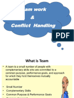 Team Work and Conflict Handling