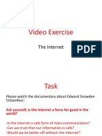 mcs 2160 video exercise - the internet
