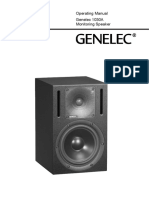 GENELEC 1030A Operating Manual
