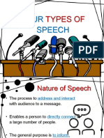 Four Types of Speeches