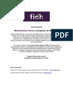 Invitación Manifestación Nicaragua