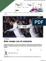 Real Madrid_ Bale Rompe Con El Vestuario - As