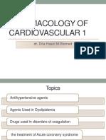 Pharmacology of Cardiovascular