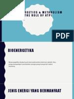 Bioenergetika, Metabolisme Dan Peran ATP