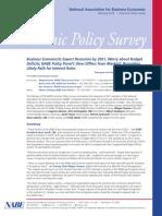 NABE Economic Policy Survey February 2019