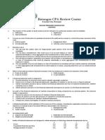 Preboard Exam - Audit