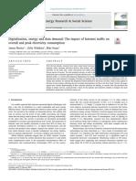 Digitalisation, energy and data demand