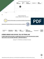 Ateneo Senior High School Talk on Train Law