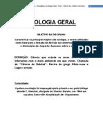 Glossario e Conceitos Para Disciplina de Ecologia Geral