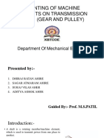 Mounting of Pulley and Gear on Shaft