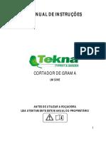 Manual Cortador de Grama 1100w Tornado Com Recolhedor Tekna 220v