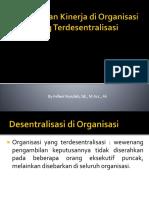 Pengukuran Kinerja Di Organisasi Yang Terdesentralisasi