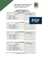 Plan de Estudios 117-2 Ing Civil