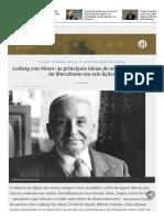 Ludwig Von Mises as Principais Ideias de Um Dos Ex