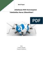 Brief Paper-RUU Konvergensi