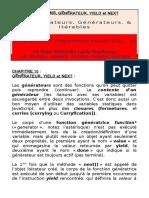 Itérateur d'Énumérables, Générateur, Yield Et Next
