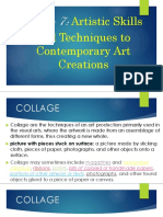 Artistic Skills and Techniques to Contemporary Art Creation
