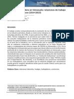 LUZ-La Industria Petrolera en Venezuela Relaciones de Trabajo y Conciencia de Clase (1914-2015)