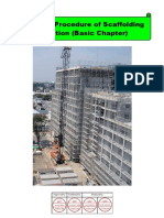 Working Procedure of Scaffolding Erection (Basic Chapter)