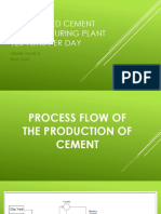 A Proposed Cement Manufacturing Plant