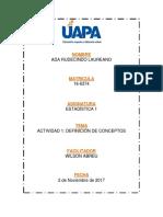 Unidad 1 Estadística - UAPA