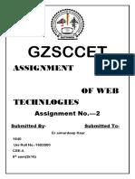 Web Technology Btech