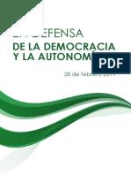 En defensa de la democracia y la autonomía