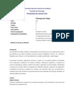 Temario Psicologia del trabajo UNAM