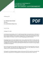 Mandamus Letter for Vice Dean